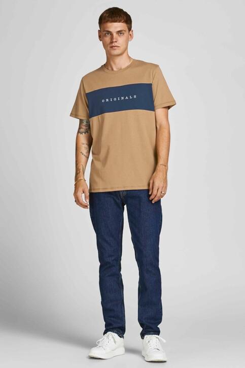 ORIGINALS BY JACK & JONES T-shirts (korte mouwen) beige 12198260_MALT BALL STAND img5