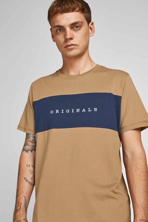 ORIGINALS BY JACK & JONES T-shirts (korte mouwen) beige 12198260_MALT BALL STAND img6
