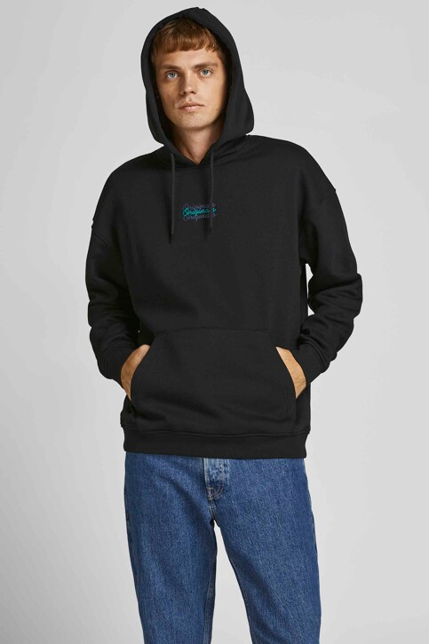 ORIGINALS BY JACK & JONES Sweaters met kap zwart 12204800_BLACK LOOSE img1