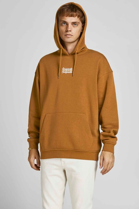 ORIGINALS BY JACK & JONES Sweaters met kap bruin 12204800_RUBBER LOOSE img1