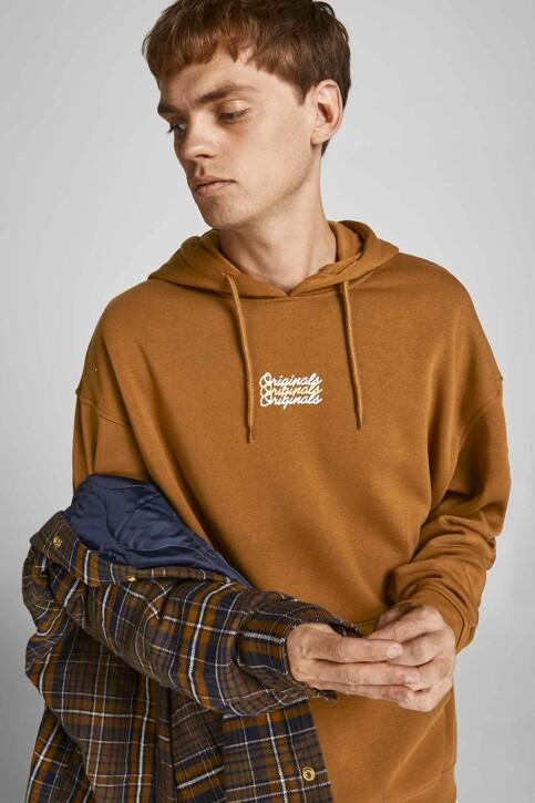 ORIGINALS BY JACK & JONES Sweaters met kap bruin 12204800_RUBBER LOOSE img6