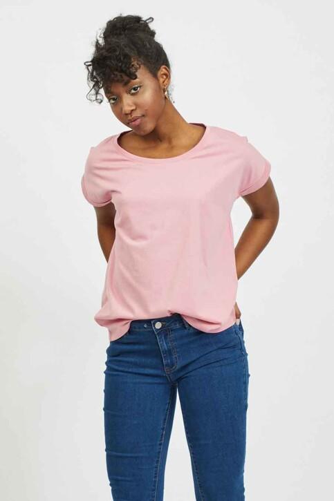VILA® Tops (korte mouwen) roze 14025668_WILD ROSE img1