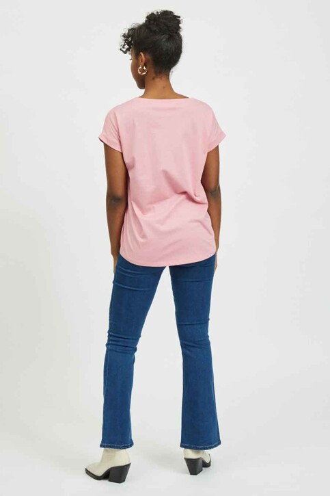 VILA® Tops (korte mouwen) roze 14025668_WILD ROSE img3