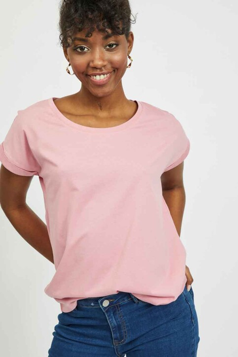 VILA® Tops (korte mouwen) roze 14025668_WILD ROSE img4