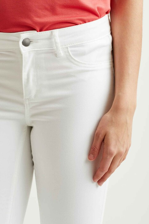 VILA® Jeans skinny wit 14032799_OPTICAL SNOW img2