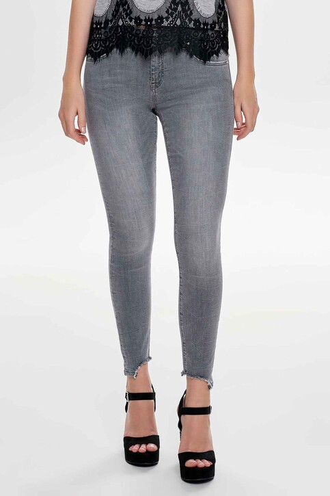 ONLY® Jeans skinny gris 15159401_MEDIUM GREY DEN img1