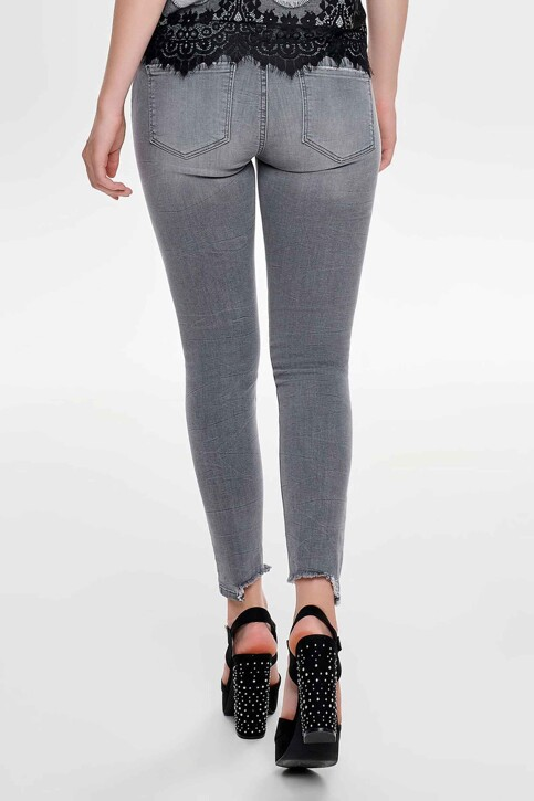 ONLY® Jeans skinny gris 15159401_MEDIUM GREY DEN img3