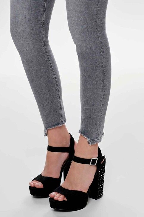 ONLY® Jeans skinny gris 15159401_MEDIUM GREY DEN img4