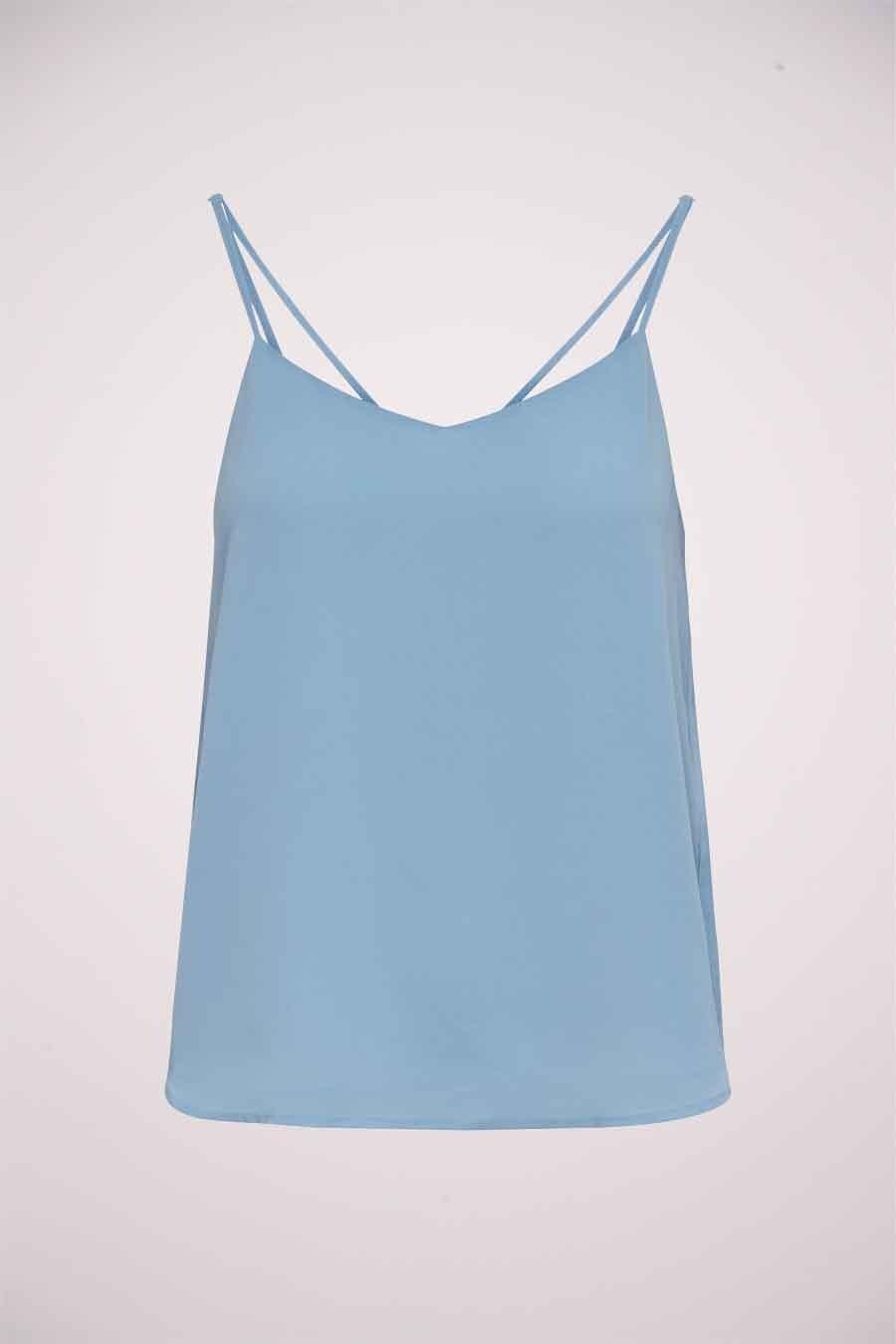 ONLY® Blouse zonder mouwen, Blauw, Dames, Maat: 34/42