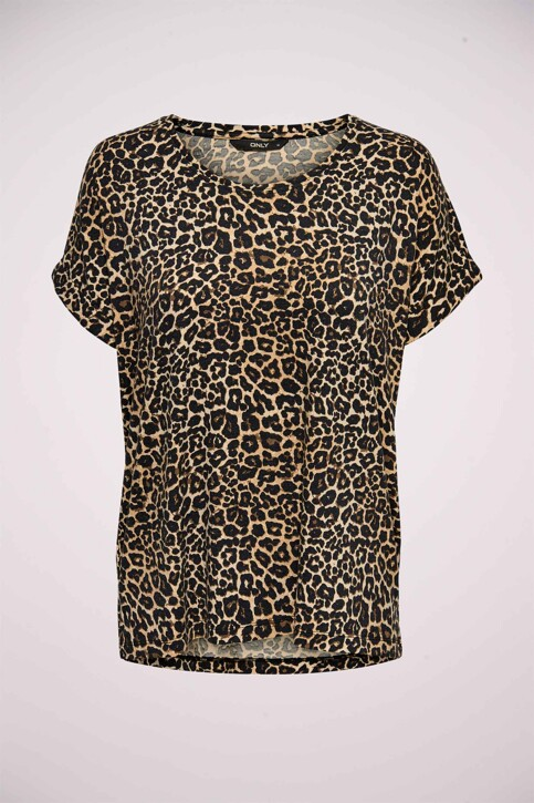 ONLY® T-shirts (manches courtes) brun 15182852_BLACK LEO img6