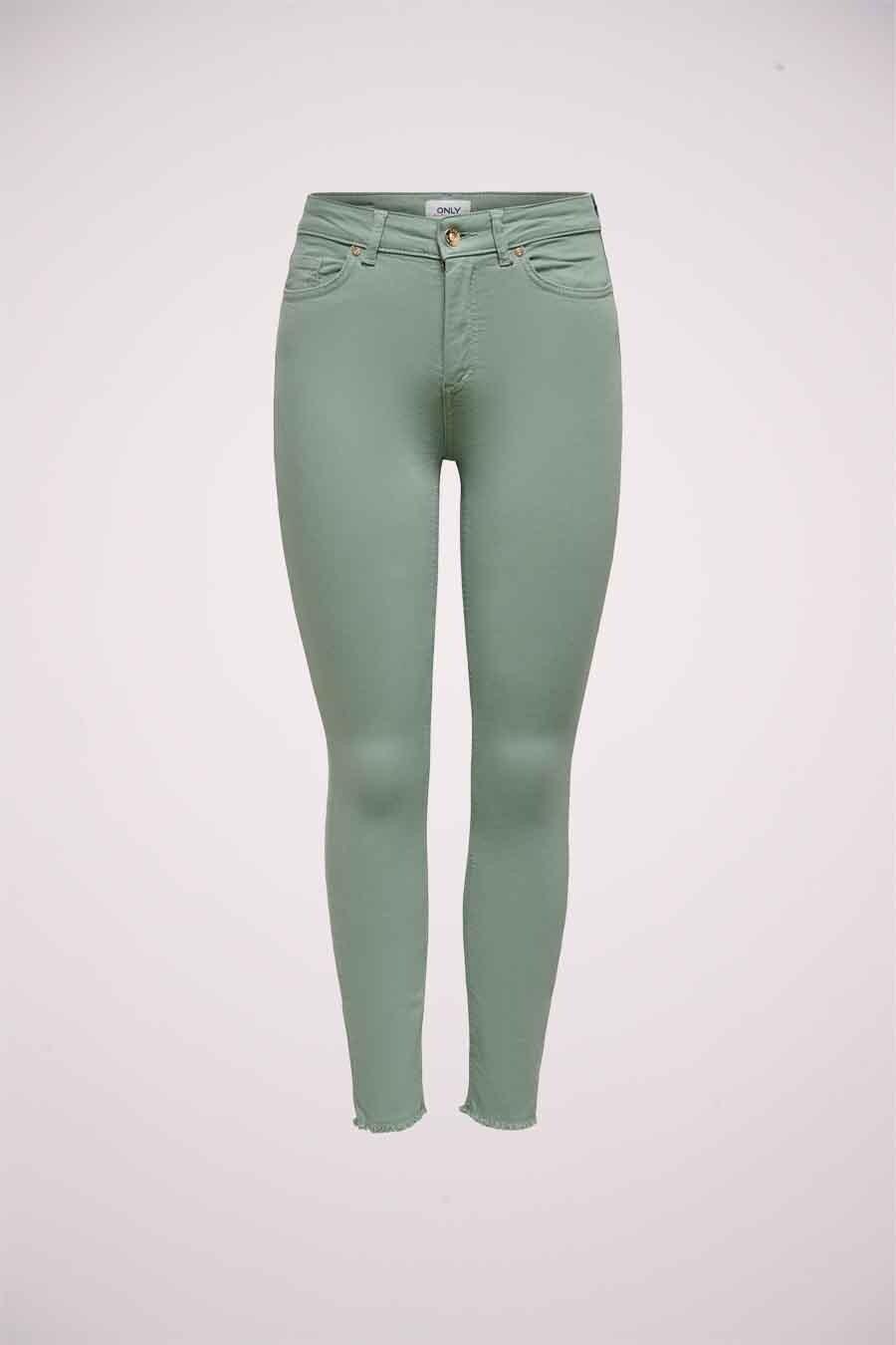 ONLY® Colorbroek, Groen, Dames, Maat: XSx32