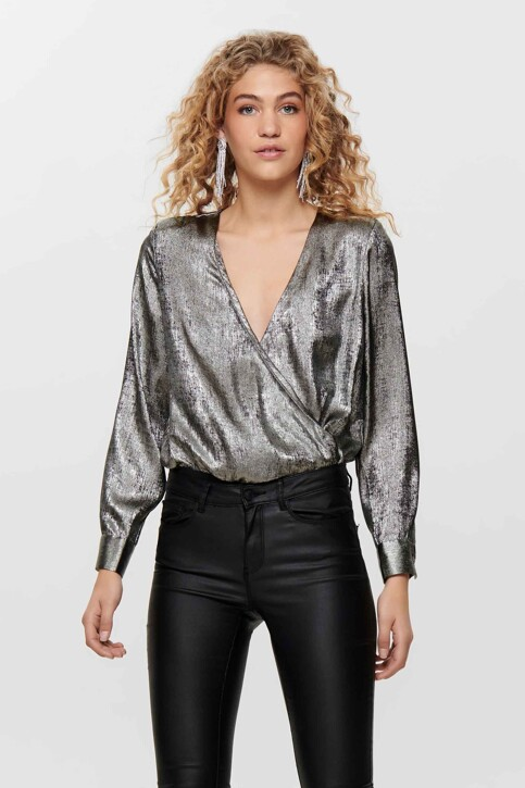 ONLY® Blouses (lange mouwen) zilver 15190221_SILVER img2