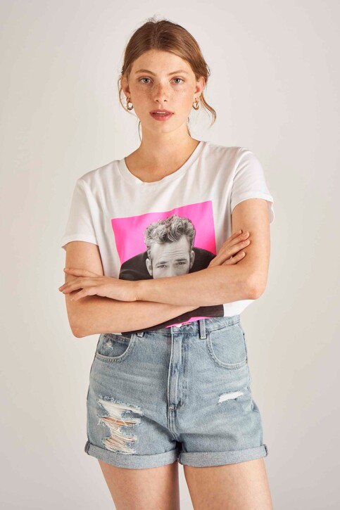 ONLY® Tops uni manche courte blanc 15196809_WHITE DYLAN img1