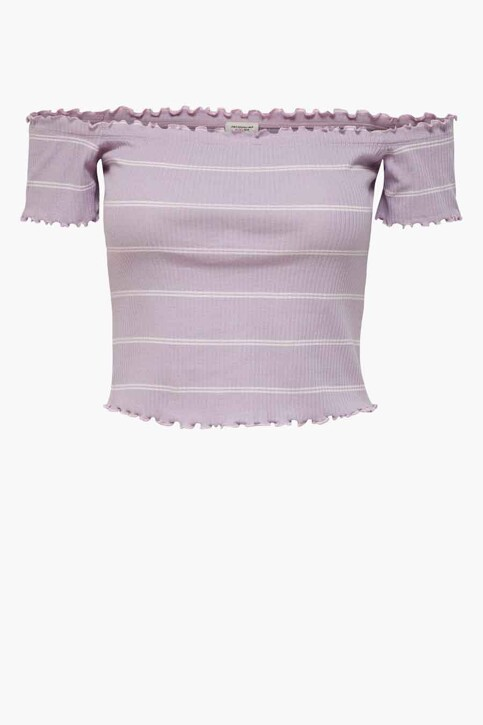JACQUELINE DE YONG T-shirts (korte mouwen) paars 15197449_LAVENDER FROST img1