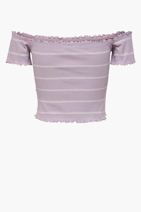 JACQUELINE DE YONG T-shirts (korte mouwen) paars 15197449_LAVENDER FROST img2