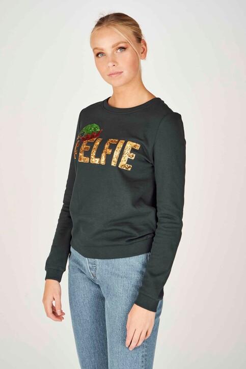 ONLY® Sweaters met ronde hals groen 15198497_PONDEROSA PINE img1