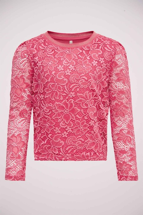 ONLY® T-shirts manches longues rose 15199137_CLARET RED img1