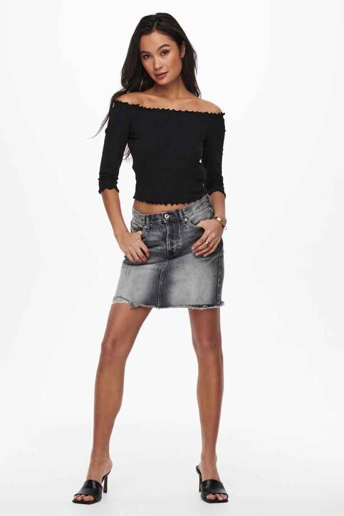 ONLY® T-shirt zwart 15214131_BLACK img2