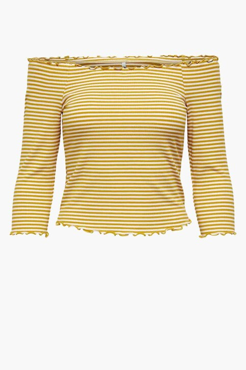 ONLY® T-shirt geel 15214131_TAWNY OLIVE CLO img5