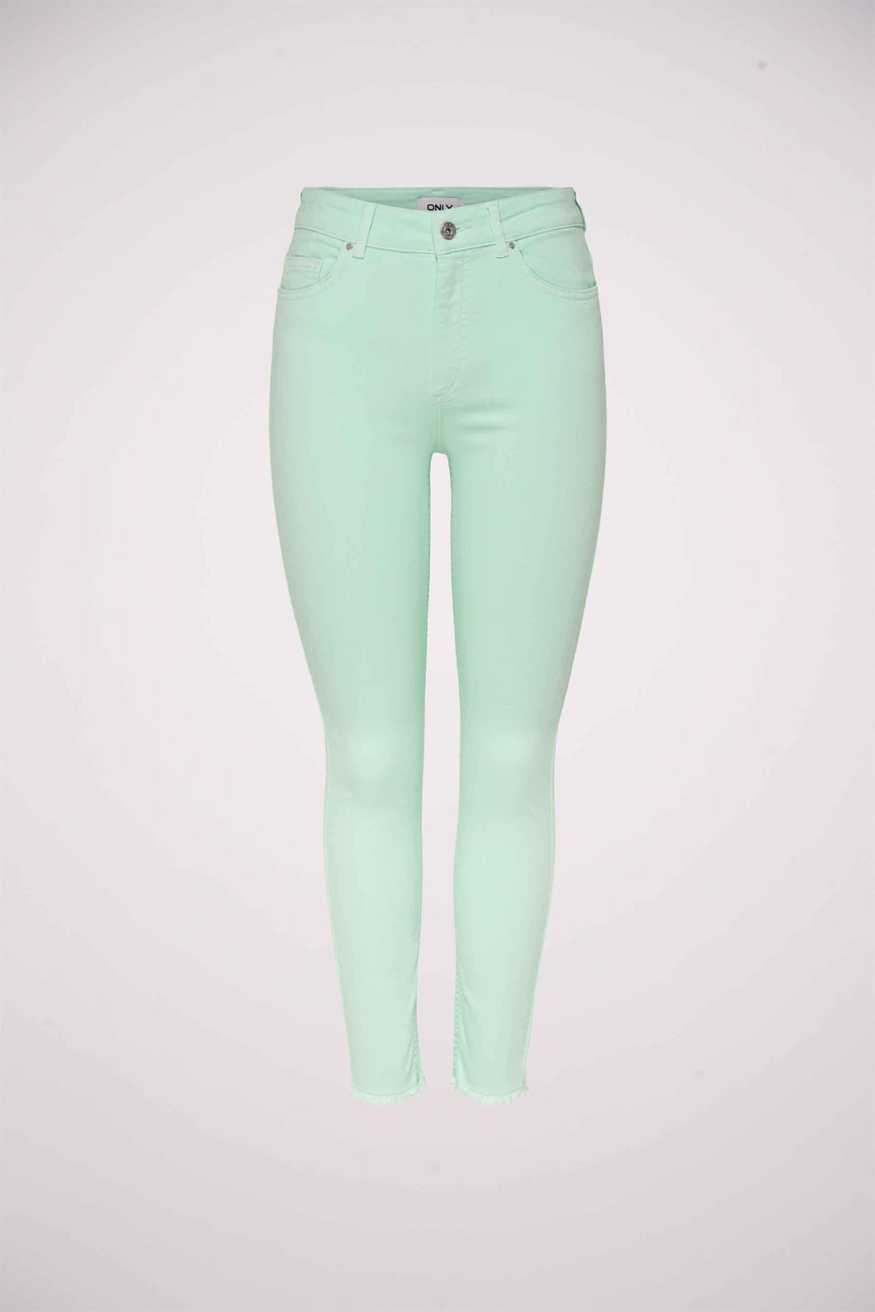 ONLY® Colorbroek, Groen, Dames, Maat: Sx32/XSx32