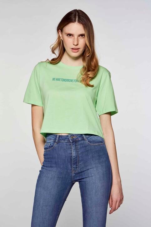 JACQUELINE DE YONG T-shirts (korte mouwen) groen 15226078_GREEN ASH TOMOR img1