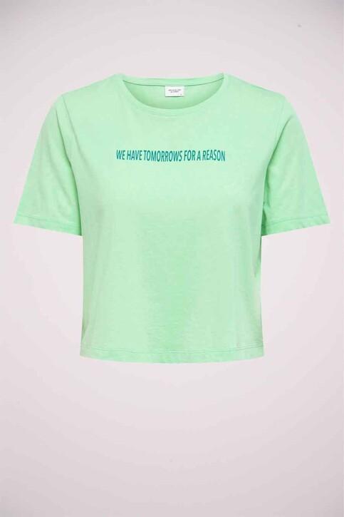 JACQUELINE DE YONG T-shirts (korte mouwen) groen 15226078_GREEN ASH TOMOR img4
