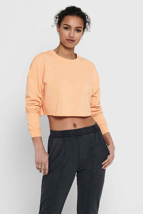 ONLY® Sweaters met ronde hals beige 15229006_CORAL SANDS img1