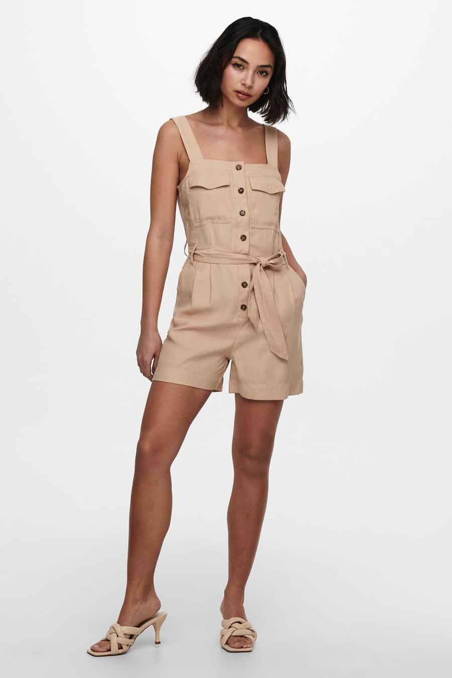 ONLY® Playsuit, Beige, Dames, Maat: M/S