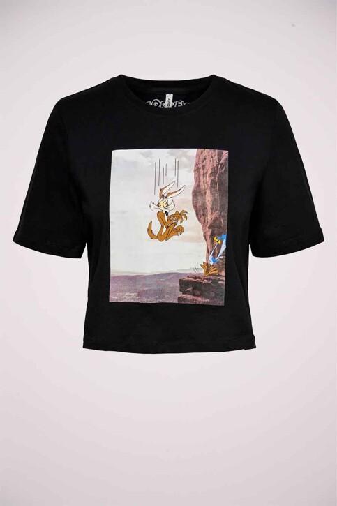 ONLY® T-shirts (korte mouwen) zwart 15229462_BLACK FALLING img1