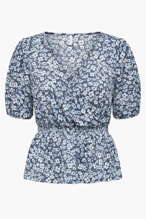 ONLY® Blouses (korte mouwen) blauw 15231039_VINTAGE INDIGO img3