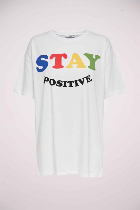 ONLY® T-shirts (korte mouwen) wit 15233574_WHITE img1