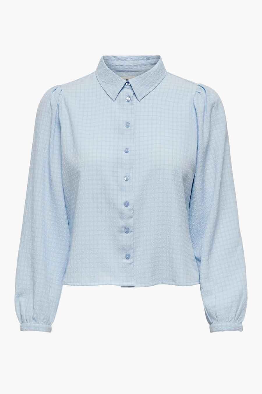 ONLY® Blouse lange mouwen, Blauw, Dames, Maat: XS/S/M/L