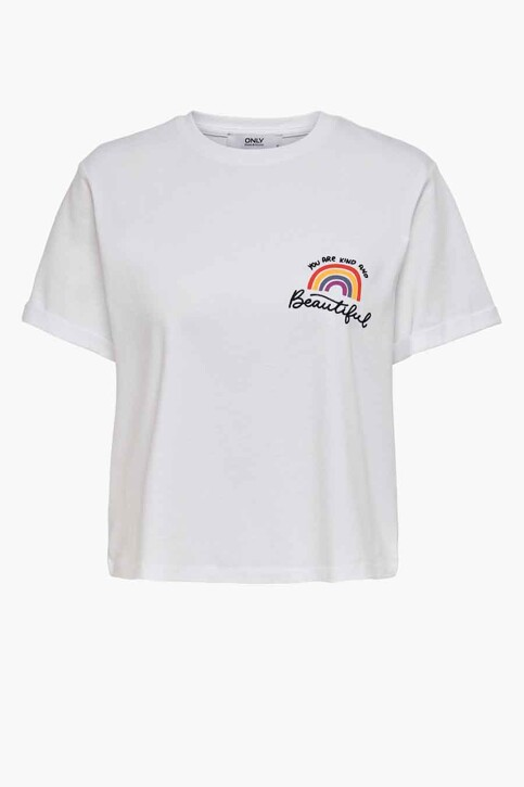 ONLY® T-shirts (korte mouwen) wit 15236117_WHITE YOURE KIN img1