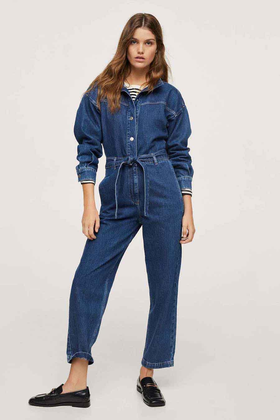 Mango Jumpsuit, Mid Blue Denim, Dames, Maat: S/XL/XS