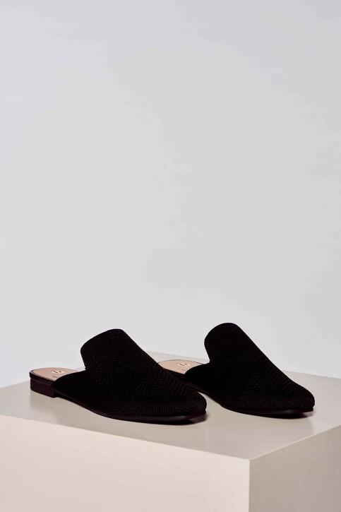 La Strada Slippers zwart 2001051ZB_BLACK KNITTED img1