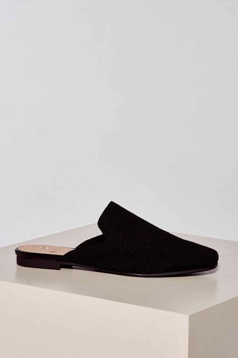 La Strada Slippers zwart 2001051ZB_BLACK KNITTED img2