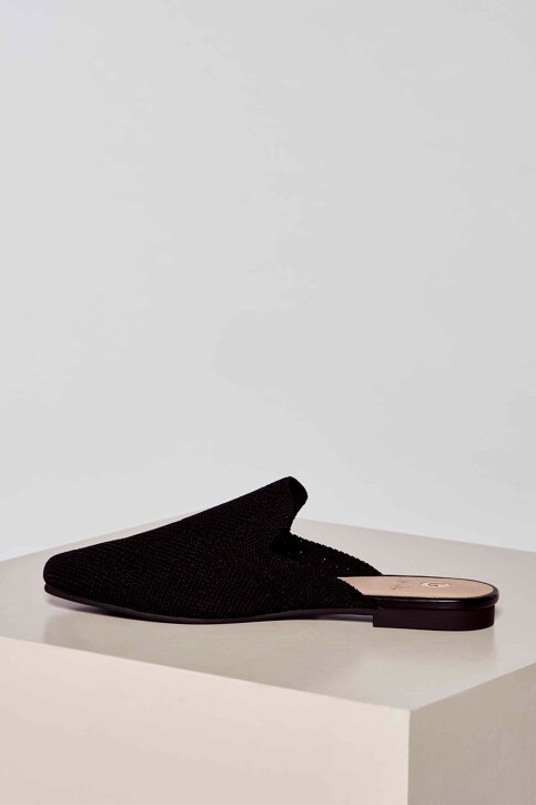 La Strada Slippers zwart 2001051ZB_BLACK KNITTED img3