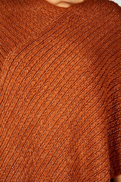 Fransa® Ponchos brun 20606695_60820 GINGER BR img3