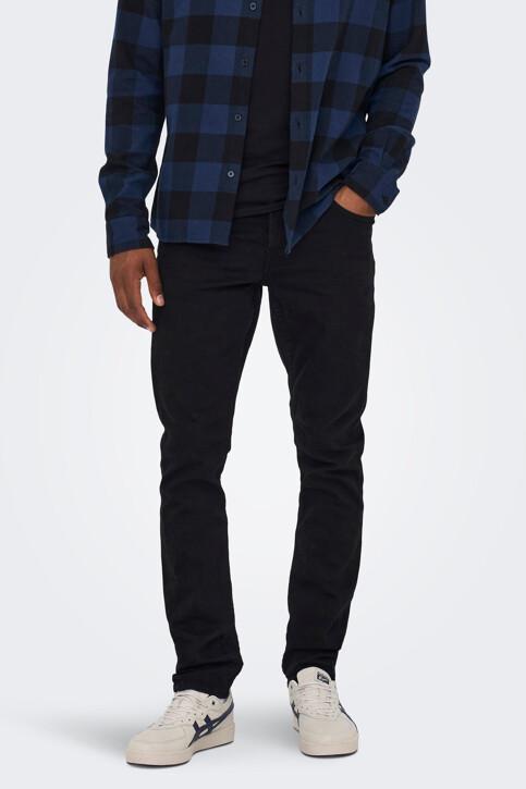 ONLY & SONS® Jeans slim zwart 22010448_BLACK DENIM img1