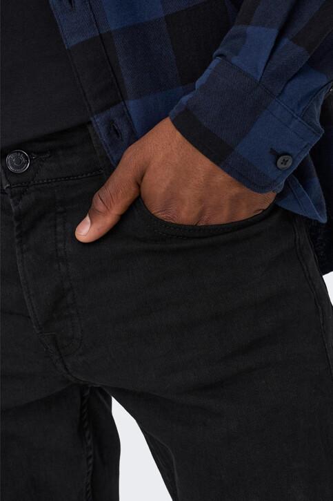ONLY & SONS® Jeans slim zwart 22010448_BLACK DENIM img4