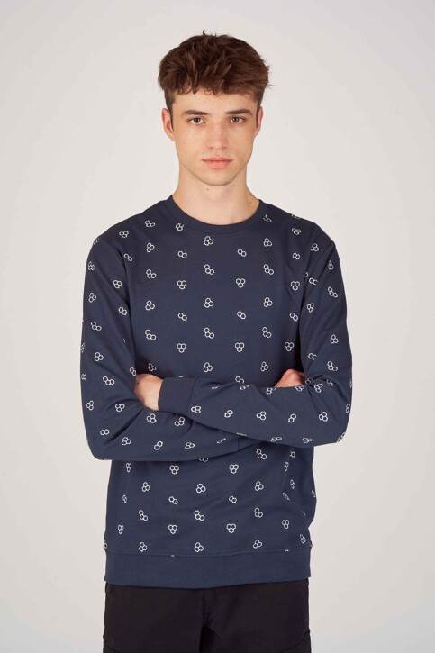 ONLY & SONS® Sweats col O bleu 22012856_DRESS BLUES img1