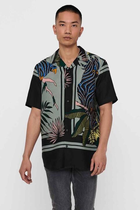 ONLY & SONS® Hemden (korte mouwen) zwart 22016588_BLACK img1