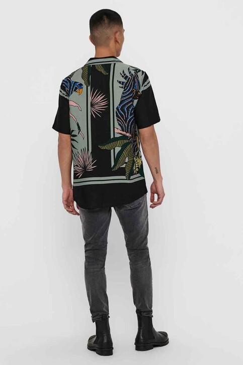 ONLY & SONS® Hemden (korte mouwen) zwart 22016588_BLACK img2