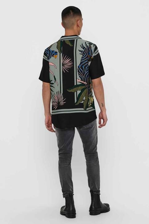 ONLY & SONS® Hemden (korte mouwen) zwart 22016588_BLACK img3