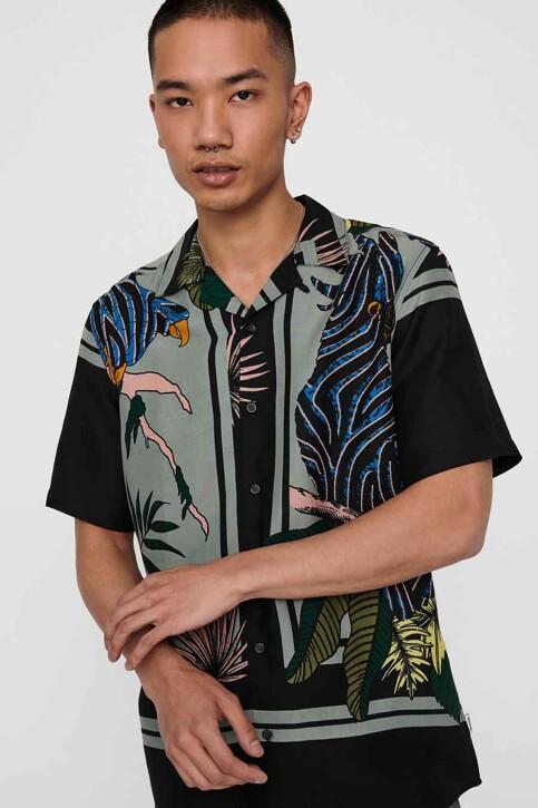 ONLY & SONS® Hemden (korte mouwen) zwart 22016588_BLACK img4