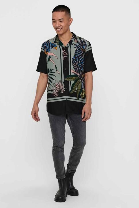 ONLY & SONS® Hemden (korte mouwen) zwart 22016588_BLACK img5