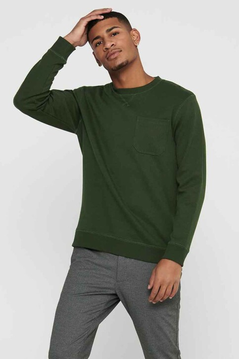 ONLY & SONS® Sweaters met ronde hals groen 22017702_ROSIN img1