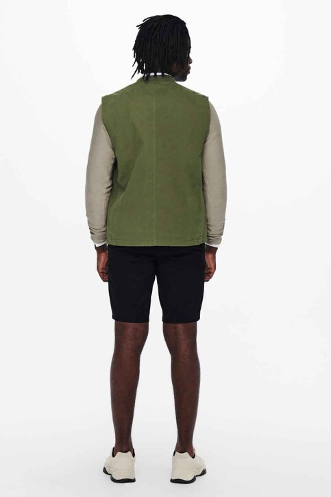 ONLY & SONS® Bodywarmers groen 22018708_OLIVE NIGHT img3