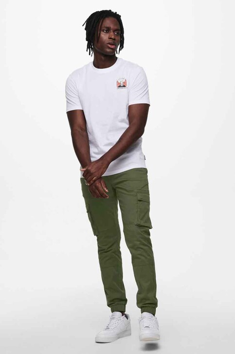 ONLY & SONS® T-shirts (korte mouwen) wit 22019089_WHITE img1