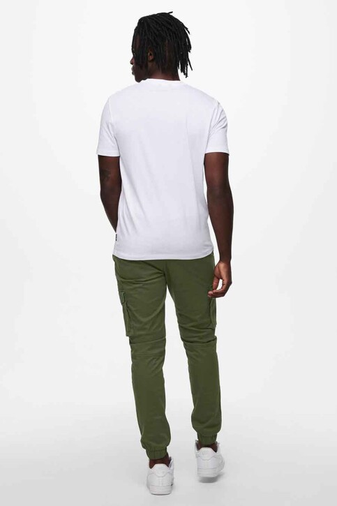 ONLY & SONS® T-shirts (korte mouwen) wit 22019089_WHITE img3